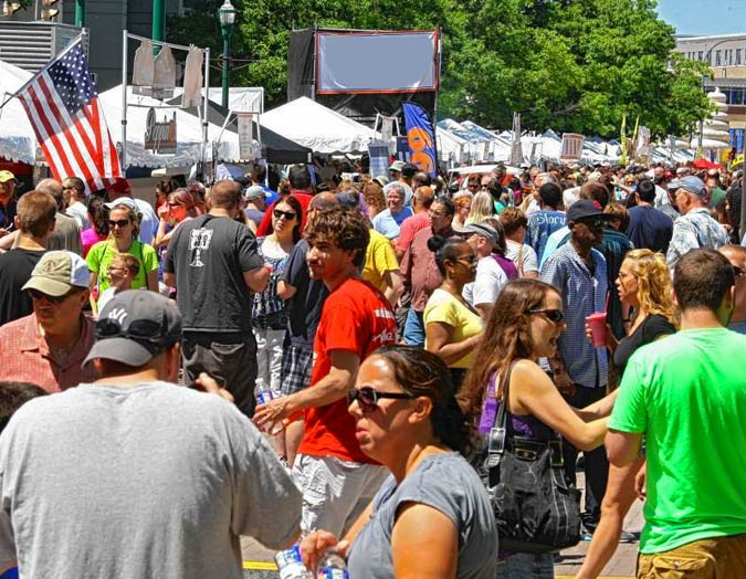 Festivals in downtown Syracuse
