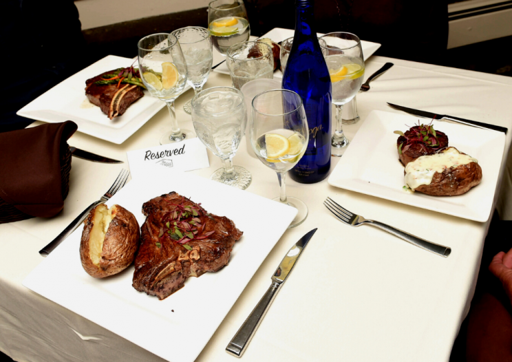entrees on the table at the Chop House on Waring Central New York restaurant