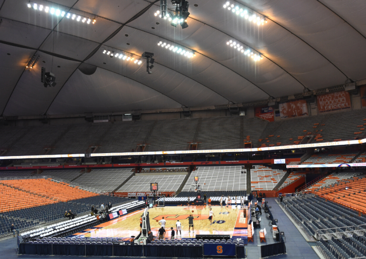 interior view of the Dome during basketball season