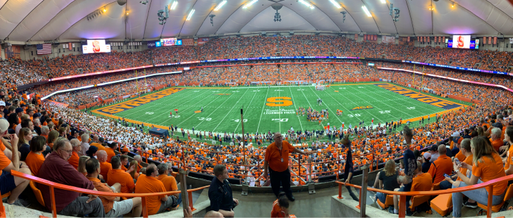 Sold out crowd for a football game at the Dome