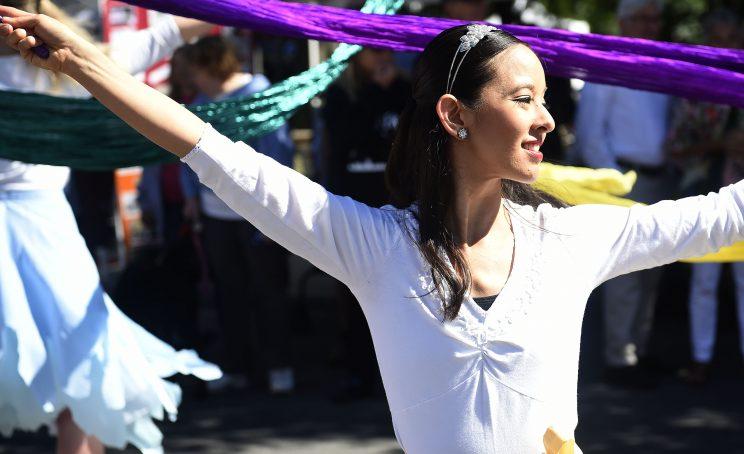 girl dancing at festival