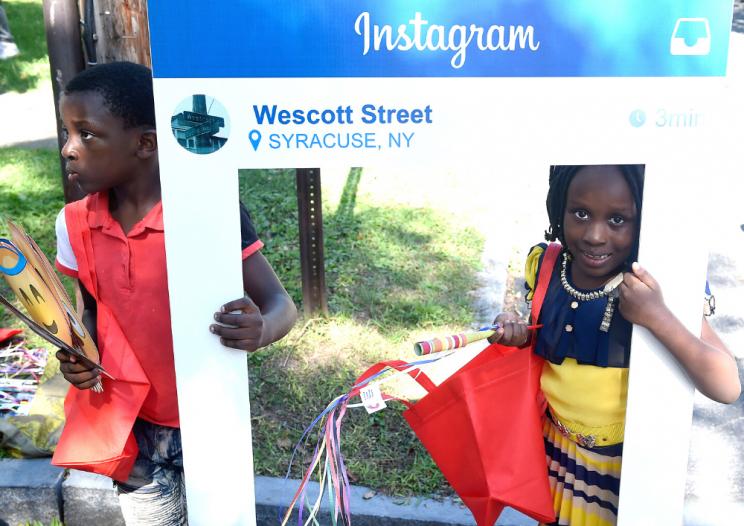 kids at the annual Westcott Street Cultural Fair