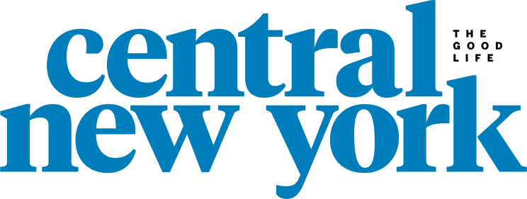 text logo that reads central new york with a tagline that says the good life